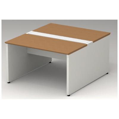 PLUS(プラス)オフィス家具 STAGEO FREE type-W 両面ベースセット W(幅)1200 D(奥行き)1400 H(高さ)720