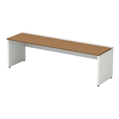 PLUS(プラス)オフィス家具 STAGEO FREE type-W 片面ベースセット W(幅)2400 D(奥行き)600 H(高さ)720