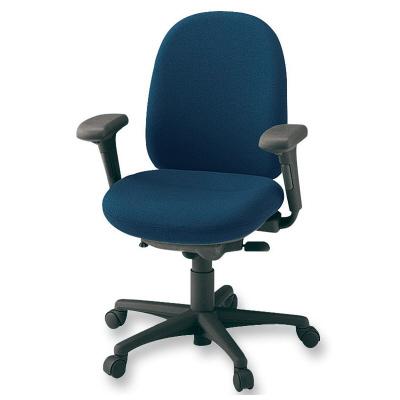 PLUS(プラス)オフィス家具 950II SERIES アジャスト肘付 ハイバック 標準布 W(幅) D(奥行き) H(高さ)