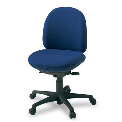 PLUS(プラス)オフィス家具 950II SERIES 肘なし ローバック 標準布 W(幅)596 D(奥行き) H(高さ)