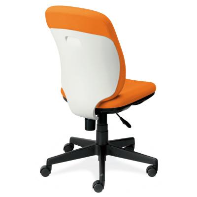 PLUS(プラス)オフィス家具 Presea ホワイトシェルタイプ ハイバック 肘なし W(幅)610 D(奥行き)582 H(高さ)