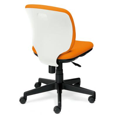PLUS(プラス)オフィス家具 Presea ホワイトシェルタイプ ローバック 肘なし W(幅)610 D(奥行き)560 H(高さ)