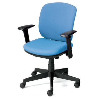 PLUS(プラス)オフィス家具 Presea ブラックシェルタイプ ローバック アジャスト肘付 W(幅)610 D(奥行き)560 H(高さ)