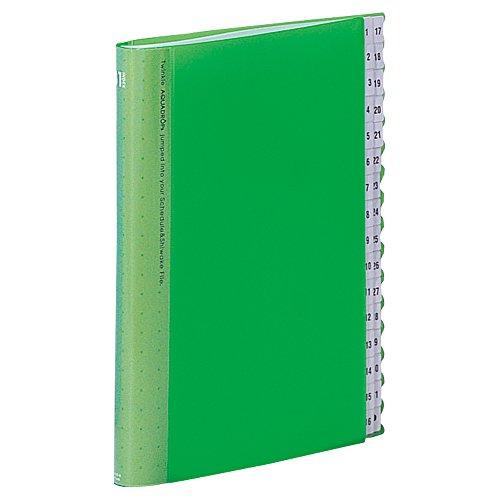 リヒトラブ スケジュール&仕分けファイル 31仕切り A4S 黄緑 A4402-6(10セット)