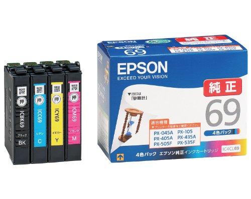 EPSON 純正インクカートリッジ IC4CL69 4色パック(10セット)