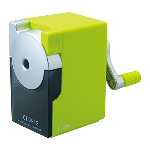 カール事務器 手動鉛筆削器 カラリス グリーン CP-100A-G(10セット)