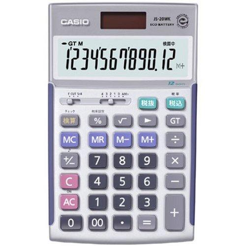 カシオ 本格実務電卓 検算 税計算 ジャストタイプ 12桁 JS-20WK-N(5セット)
