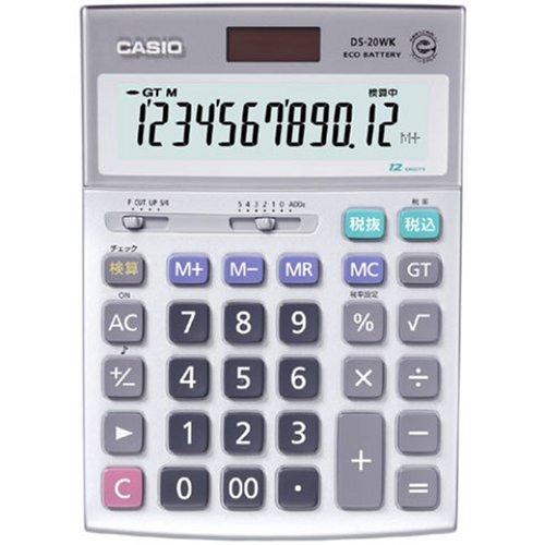 カシオ計算機 実務電卓 12桁 検算機能付き ブリスターパッケージ デスクタイプ DS-20WK-N(5セット)
