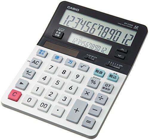カシオ ツイン液晶電卓 税計算 デスクタイプ 8桁 DV-220W-N(5セット)