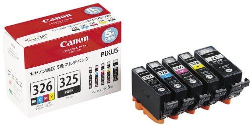 Canon インク カートリッジ 純正 BCI-326(BK/C/M/Y)+BCI-325 5色マルチパック BCI-326+325/5MP(10セット)