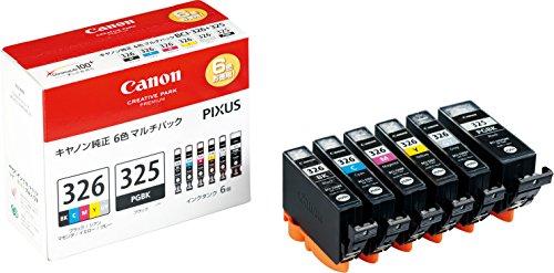 Canon インク カートリッジ 純正 BCI-326(BK/C/M/Y/GY)+BCI-325 6色マルチパック BCI-326+325/6MP(10セット)