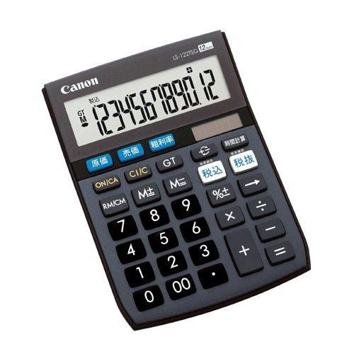 Canon 12桁電卓 LS-122TSG SOB グリーン購入法適合 商売計算機能付(10セット)