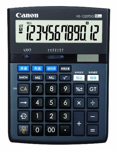 Canon 12桁電卓 HS-1220TSG SOB グリーン購入法適合 商売計算機能付(5セット)