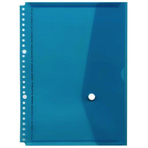 Flap pocket JHP04LB for the B5 流行 26 hole binder JHP04LB 26穴バインダー用フラップ付ポケット 450セット belonging 単価112円 ライトブルー ※アウトレット品 B5 to 送料無料