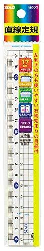 Kutsuwa 返品交換不可 STAD methacryl straight line ruler 倉 17cm HS180 17cm 単価105円 クツワ HS180 メタクリル直線定規 STAD 480セット 送料無料