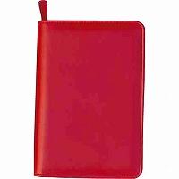 【送料無料・単価1424円・10セット】コレクト 年金手帳ホルダー ファスナー 赤 CP-30X-RE(10セット)