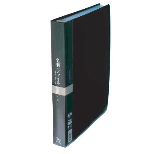 【送料無料・単価3702円・10セット】コレクト 名刺カードファイル ブラック A4-L CF-7110-BK(10セット)