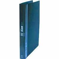 【送料無料・単価2278円・10セット】コレクト 名刺整理帳 ブラック A4-L 30穴 K-715-BK(10セット)