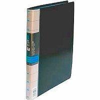 【送料無料・単価1566円・10セット】コレクト 透明ポケット3ファイル 黒 A4L30穴 S-843-BK(10セット)