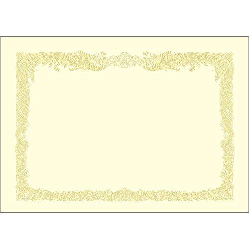 タカ印 OA賞状用紙 10-1167 縦書き クリーム A4 100枚(5セット)