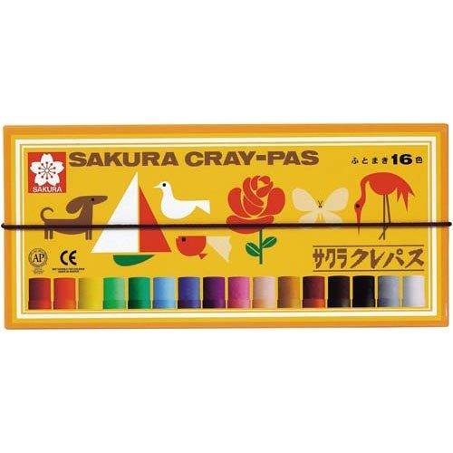 Sakura Cray-PAS 太巻 16 color 16色 4901881142857 ゴムヒモ付 サクラクレパス 永遠の定番 爆売りセール開催中 LP16R4901881142857