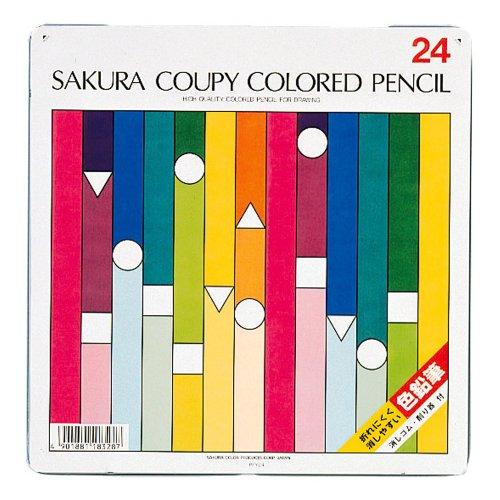 サクラクレパス クーピー色鉛筆 24色 PFY24(10セット)
