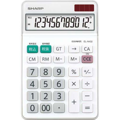 シャープ ナイスサイズタイプ 12桁 EL-N432-X(10セット)