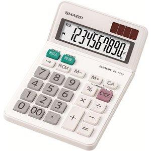 シャープ 電卓 ミニナイスサイズタイプ 10桁 EL-771-JX(10セット)