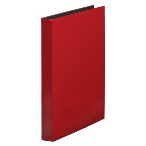 【送料無料・単価1013円・10セット】キングジム レザフェス クリアーファイル A4S 1931LF 赤(10セット)