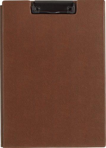 キングジム レザフェス クリップボード A4E 1932LF 茶(10セット)