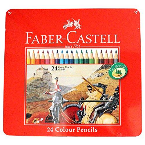 ファーバーカステル 油性色鉛筆 平缶 24色セット TFC-CP/24C(10セット)