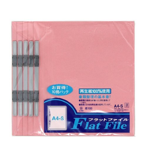 【送料無料・単価3624円・10セット】スガタ フラットファイルA4100サツピンク FF33PK100P(10セット)