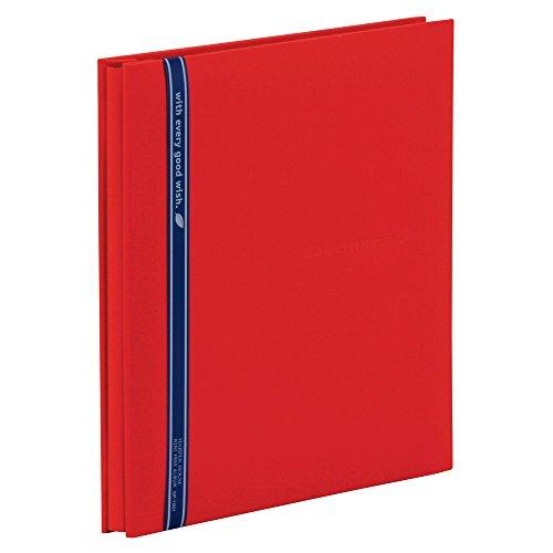 SEKISEI アルバム フリー ハーパーハウス ミニフリーアルバム 黒台紙 20ページ 11~20ページ 布 レッド XP-1001-20(10セット)