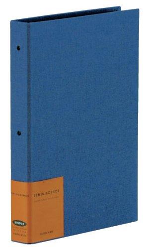 【送料無料・単価1125円・10セット】SEKISEI アルバム ポケット ハーパーハウス レミニッセンス バインダータイプ L120枚収容 ネイビーブルー L 201~300枚 布 ブルー XP-2102(10セット)