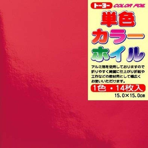 商舗 絶品 14 pieces of Toyo single color foil red 600セット トーヨー 単価84円 送料無料 単色カラーホイル case 赤 14枚入