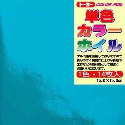 14 日本産 pieces of Toyo single color foil light blue トーヨー 単色カラーホイル 送料無料 14枚入 600セット 優先配送 case 単価84円 水色