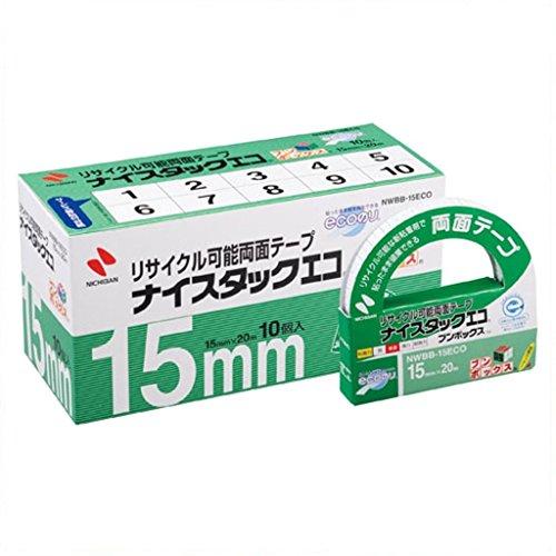 ニチバン 両面テープ ナイスタックエコ 15mm 10巻入 NWBB-15ECO 大巻(5セット)