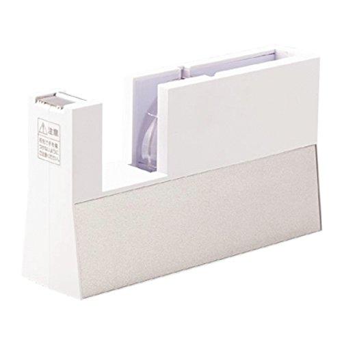 ニチバン テープカッター台 切り口まっすぐ直線美 TC-CBK5 小巻用 白(10セット)