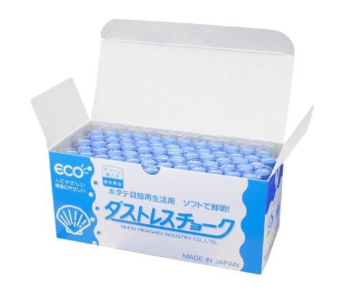 【送料無料・単価1604円・10セット】日本理化学 DCC-72-BU 72本(10セット) ダストレスチョーク 青