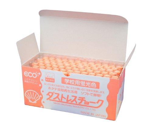 【送料無料・単価1780円・10セット】日本理化学 ダストレス蛍光チョーク DCK-72-RG 橙 72本(10セット)