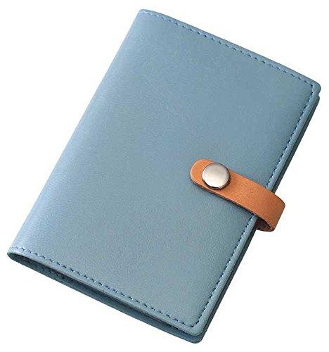【単価712円・30セット】レイメイ藤井 カードケース 20ポケット 合皮製 ブルー CH119A(30セット)