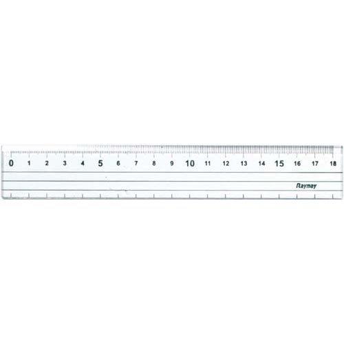 【単価200円・80セット】レイメイ藤井 定規 カッティング定規 18cm ACJ28 0(80セット)