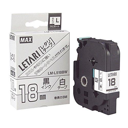 【単価1346円・20セット】マックス ビーポップミニ テープカセット LM-L518BW(20セット)