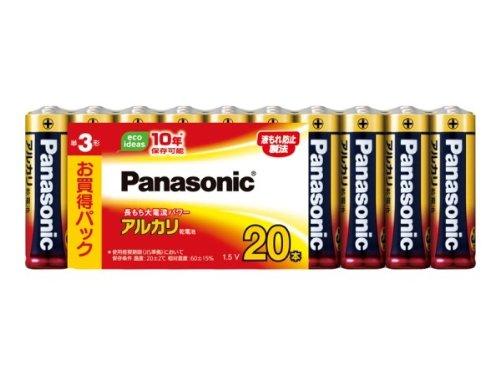 パナソニック 単3形アルカリ乾電池 20本パック LR6XJ/20SW(10セット)