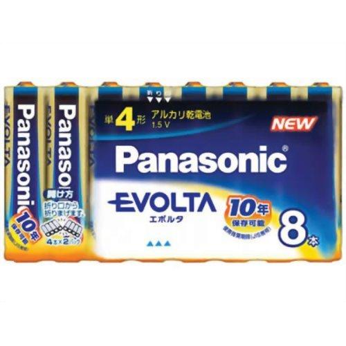パナソニック(Panasonic) アルカリ乾電池 EVOLTA(エボルタ) 単4形 8本 LR03EJ/8SW(10セット)