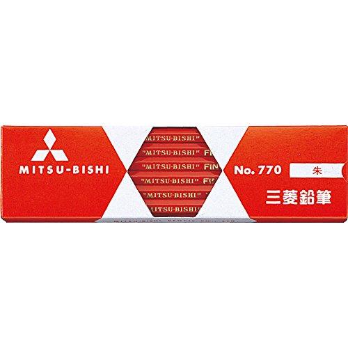 【送料無料・単価560円・30セット】ミツビシ 三菱鉛筆 UNI 色鉛筆 六角770 12本 朱色 K770(30セット)