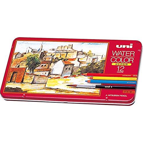 ミツビシ 三菱鉛筆 UNI 色鉛筆 ユニウォーターカラー 12色 UWC12C(10セット)