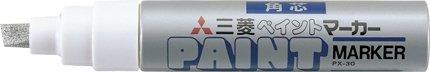 新登場 Mitsubishi paintball marker thick PX30 26 迅速な対応で商品をお届け致します Gin 4902778125373 送料無料 単価210円 240セット PX30.26 ミツビシ UNI 不透明油性マーカー 油性 uni 銀 太字角芯 ペイントマーカー 三菱鉛筆