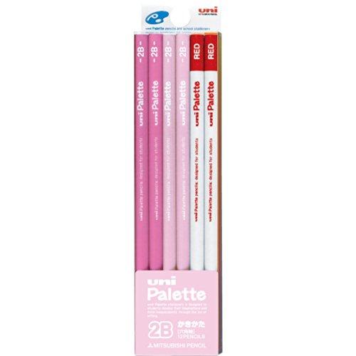 【単価466円・40セット】ミツビシ 三菱鉛筆 UNI 鉛筆 ユニパレット かきかたえんぴつト 2B 赤鉛筆付 パステルピンク K55642B(40セット)