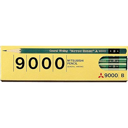 【送料無料・単価466円・40セット】ミツビシ 三菱鉛筆 UNI 鉛筆 事務用鉛筆9000 B 12本入 K9000B(40セット)